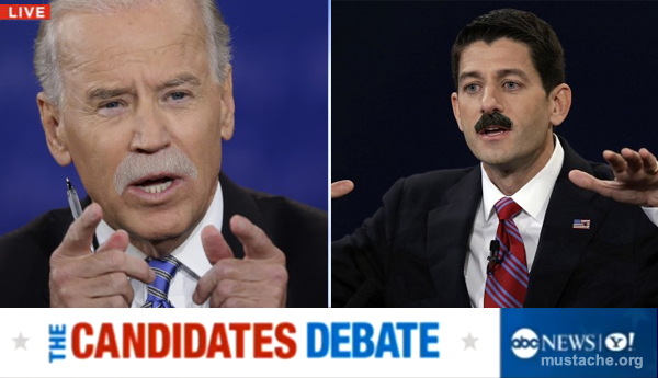 VP Debate Mustaches
