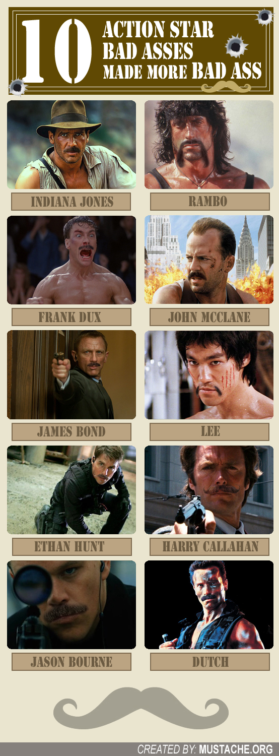 Action Stars with Mustaches